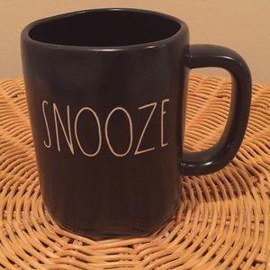 """Rae Dunn """"Snooze"""" ceramic mug."""